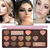 Best Pro Eyeshadow Palette Makeup - Matte + Shimmer 16 Colors - High Pigmented - Professional Vegan Nudes Warm Natural Bronze Neutral Smokey Cosmetic Eye Shadows (Multicolor -16 Color) (Color: Multicolor -16 Color, Tamaño: Medium)