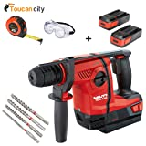 Toucan City Tape Measure with Safety Goggles and Hilti 36-Voltt Lithium-Ion 1/2 in. SDS Plus Cordless Rotary Hammer TE 6-A36 Compact with DRS 3551239