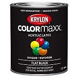 Krylon K05647007 COLORmaxx Brush On Paint, Quart, Black (Color: Black, Tamaño: Quart)