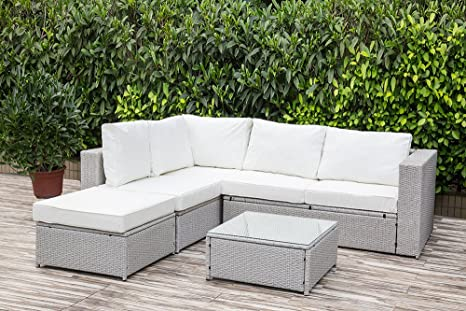 Rattan Garden Furniture Five Piece Set With Coffee Table