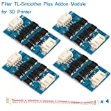 MakerHawk 4pcs TL-Smoother Plus Addon Module 3D Printer Accessories Filter for Pattern Elimination Motor Filter Clipping Filter 3D Pinter Motor Drivers Terminator Reprap MK8 I3 (Color: Blue)