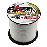 Ashconfish Super Strong Braided Fishing Line-4 Strands Fishing Wire 500M/546Yards 30LB White (Color: White, Tamaño: 30LB/0.26MM)