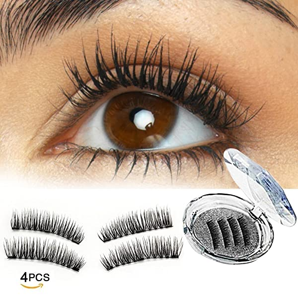 0c0261db44b Triple Magnetic Full Size False Eyelashes Extension Set, 3 Fake Magnet  Lashes for Natural Look - Reusable ...