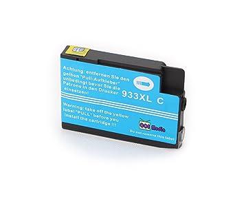 s 4 cartouches d 39 encre compatibles compatibles avec hp 932 xl 933 xl ink 1x noir. Black Bedroom Furniture Sets. Home Design Ideas