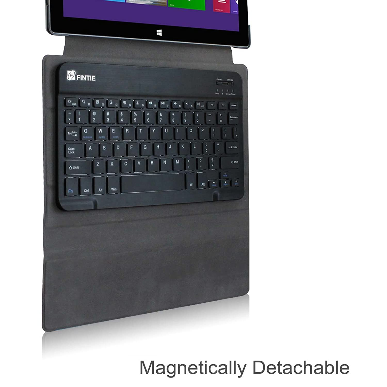 Bluetooth Keyboard Leather Case Cover For Microsoft