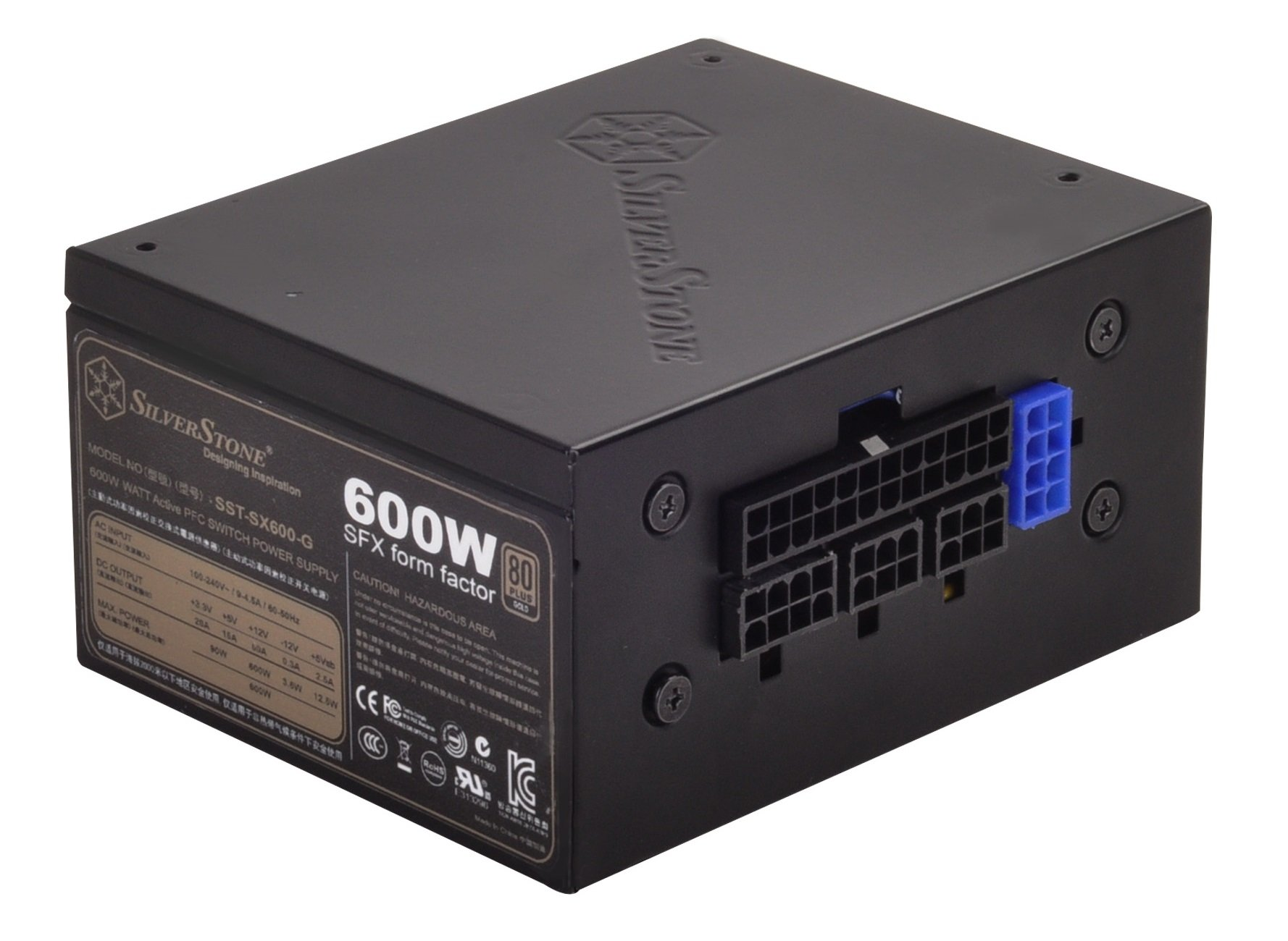 SilverStone Technology 600W SFX Form Factor 80 PLUS GOLD Full ...