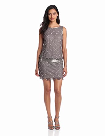 Women's Fish Scale Beaded Dress