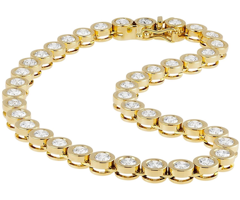 Diamond Line Damen-Armband 585 Gelbgold Diamant (5.00 ct) weiß Brillantschliff 19.5 cm – 119560 online bestellen