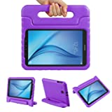 Color Our Life Samsung Galaxy Tab E 9.6 Kiddie Case-Shock Proof Light Weight Convertible Handle Stand Cover for Samsung Galaxy Tab E 9.6 Inch Tablet, Purple (Color: Purple, Tamaño: Tab E 9.6)