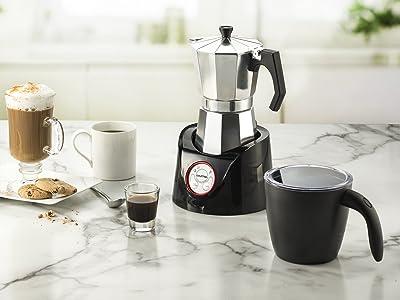 Gourmia GMF255 Espresso Coffee Pot & Milk Frother  Via Amazon
