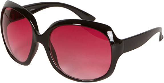 GA4565 Retro Vintage Oversized Frame Fashion Sunglasses - Black - Pink Smoke Lens