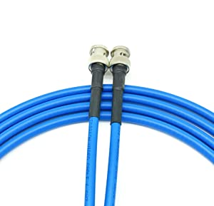 AV-Cables 3G/6G HD SDI BNC RG59 Cable Belden 1505A - Blue (100ft) (Color: BLUE, Tamaño: 100ft)