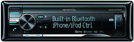 Kenwood KDC-BT53U Autoradios 200 W bleutooth, En Façade et Arrière