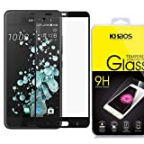 KHAOS for HTC U Ultra Full Cover Tempered Glass Screen Protector with Lifetime Replacement Warranty - Black