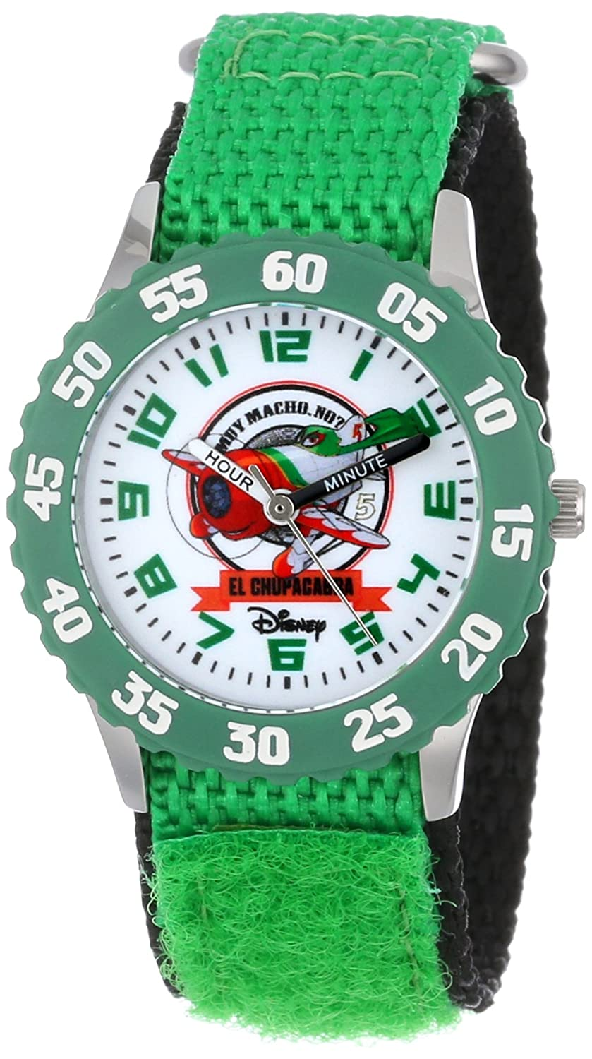 Disney Kids' W000879 Planes: Fire & Rescue Stainless Steel Time Teacher Watch with Green Band набор канцелярский planes