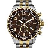Brandt & Hoffman Pythagoras Chronograph Mens Watch - Brown Dial, Silver/IPRG Bracelet