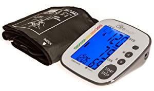 Care Touch Fully Automatic Upper Arm Digital Blood Pressure Monitor with AC Adapter - Platinum Series, Medium to Large Cuff - Batteries Included