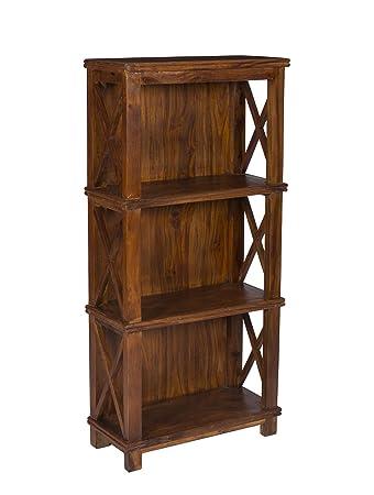 Stylla Londra fatto a mano in legno massello classico Bookshelves Bookcases, Palissandro, 56X25X120 cms
