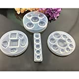4Pcs Jewelry Casting Mold Designs Silicone Mold, Different Sizes and Thickness of Half Round Design DIY Silicone Molds, Semicircle for Resin Jewelry Making DIY Craft