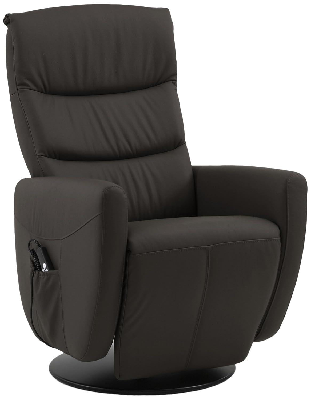 Sino-Living SE-800C-L-02-E Relax und Ruhesessel in Dickleder, braun mit motorischer Verstellung