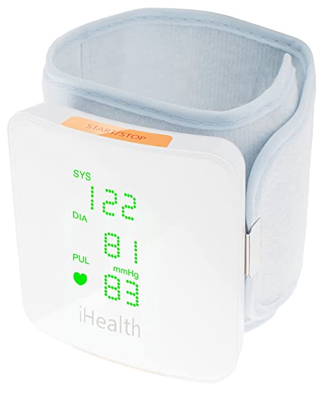 iHealth View Wireless Wrist Blood Pressure Monitor with Display for iPhone and Android (White) at amazon
