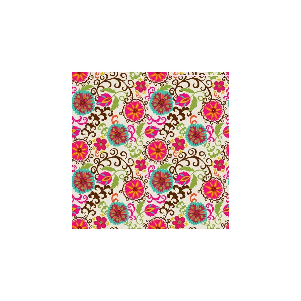Jillson Roberts Eco Line Gift Wrap, Happy Flowers, 6 Count (R267)