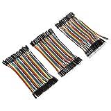 3pcs Multicolored Breadboard Dupont Jumper Wires 40pin M to F / 40pin M to M / 40pin F to F for Arduino Breadboard Kit