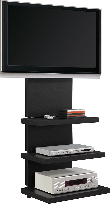 wall mount tv stand 55 60 50 black floating entertainment center media console ebay. Black Bedroom Furniture Sets. Home Design Ideas