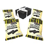 Darrell Lea Original Soft Eating Liquorice, 7 oz Bags in a BlackTie Box (Pack of 4)