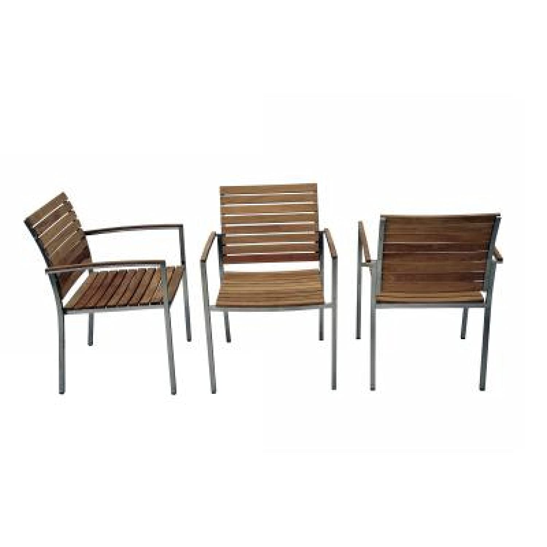 SIT Mobilia Gartenstuhl/Stapelsessel Granada Edelstahl mit Teakholz 30INX7-66 günstig kaufen