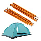 2pcs Aluminum Alloy Tent Pole Support Replacement Accessory for Camping Hiking, 142 inch/pc (Style 2) (Color: Style 2)