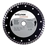 Evolution Power Tools 185BLADEDM 7-1/4-Inch Diamond Masonry Blade with 20mm Arbor (Color: Gray, Tamaño: 7-1/4 Inch)
