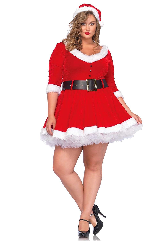 Plus size miss santa fancy dress