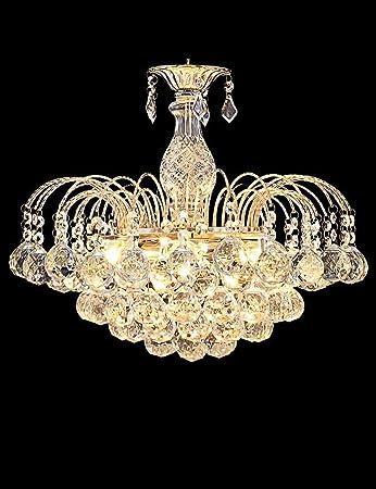 Un conjunto de araña --- Cristal Cristal Lámpara Mesa de comedor Dormitorio Estudio Sala de estar (No incluir la fuente de luz) ( Tamaño : 45*36CM )