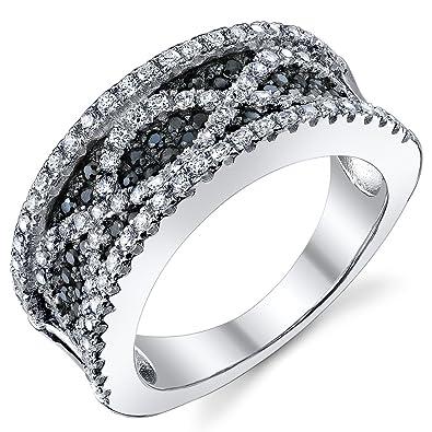 4ae3a6f479c282 Revoni - Anello da donna con Zirconia cubica argento sterling 925, taglio  Rotonda 4.02 carati: Revoni: Gioielli