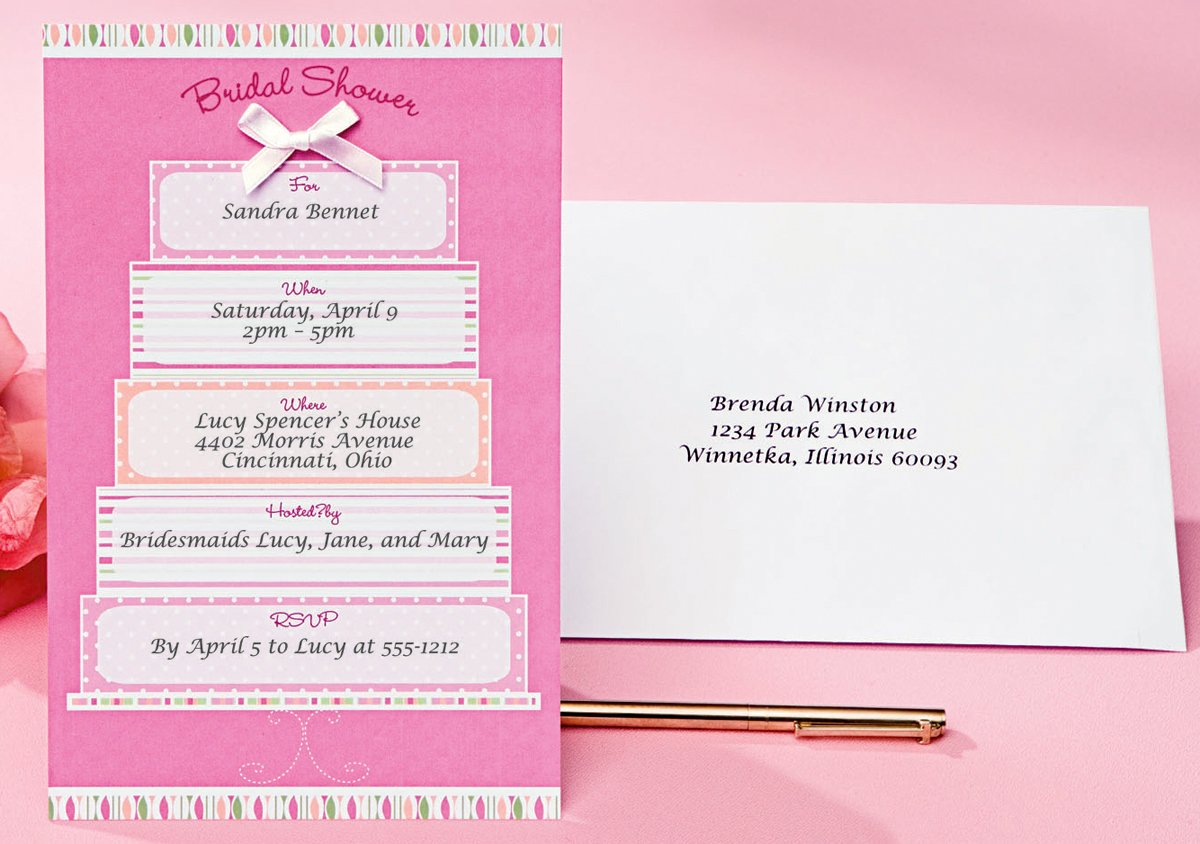 Wilton Wedding Invitations Template: Bridal Shower Invitations
