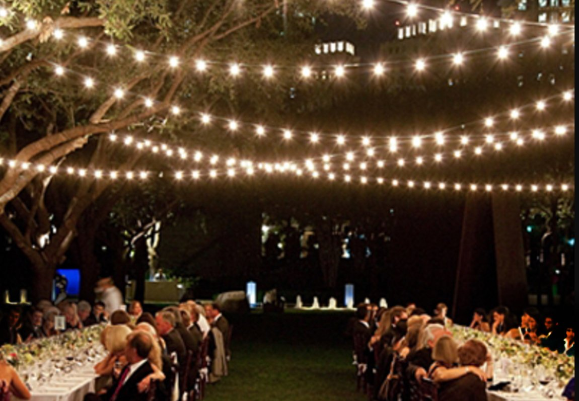 Outdoor Light String 100ft Globe Patio String Lights 100 foot