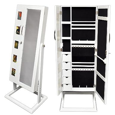 Espejo joyero con compartimentos para la bisuter a y marco for Espejos de cuerpo completo modernos