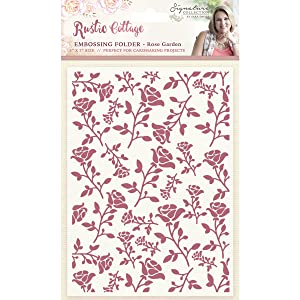 Crafter's Companion Sara Davies Signature Rustic Cottage Embossing Folder, 5 x 7 (Tamaño: 5 x 7)