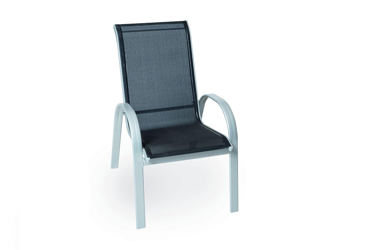 MERXX Garten-Stapelsessel Alugestell Textilbespannung schwarz 1 SESSEL günstig bestellen