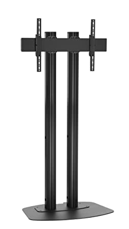 Vogels FD2084B Double Pole Floor Stand For up to 85 inch TVs - 2.0m - Black