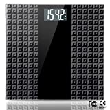 Digital Body Weight Bathroom Scale - Large Backlit Display with 8 Seconds Consistent Accurate Reading, Non-Slip Matte Wide Platform, 400 Pounds, Black (Color: Black, Tamaño: BS003)