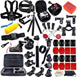 Gopro Accessories Kit for GoPro Hero 7 6 5 4 3+ 3 2 1 Hero Session 5 Black Accessory Bundle Set for Xiaomi Yi AKASO Apeman SJ4000 DBPOWER AKASO WiMiUS Rollei QUMOX Campark Action Camera Accessory (Tamaño: XL)