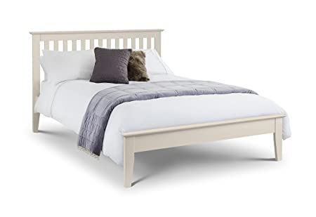 Julian Bowen Salerno Shaker Bett, elfenbeinfarben, Holz, 135cm, Doppelbett, holz, elfenbeinfarben, King Size