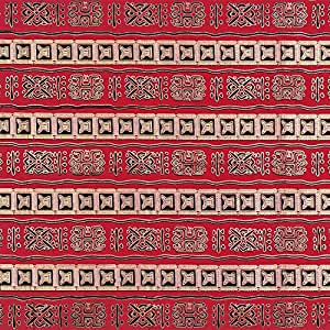 Amazon.com: African Adinkra Print Red & Gold Fabric - By the Yard