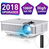 1080P Projector,Xinda 5.5 inch HD Projector with 200