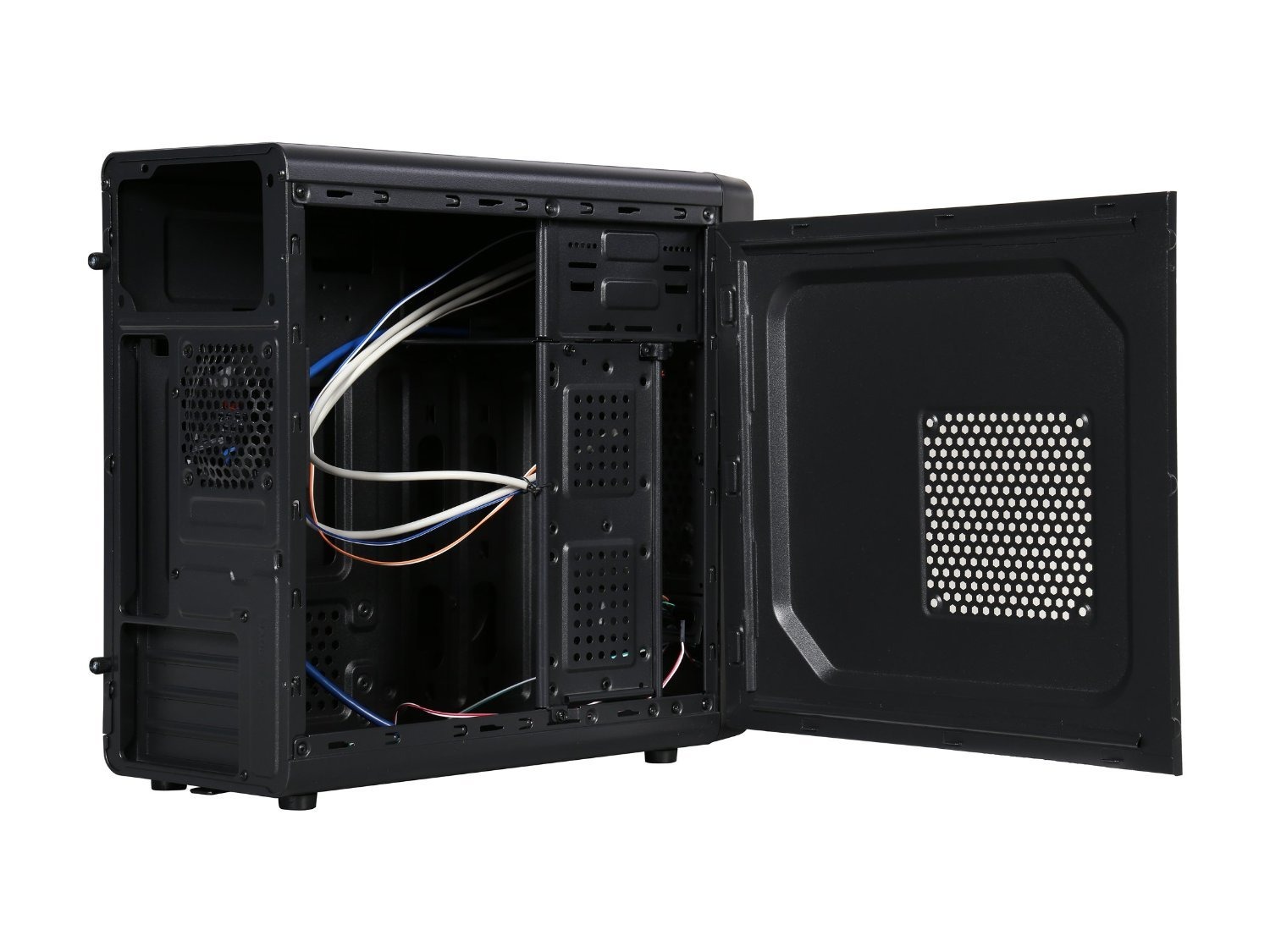 how to open a micro atx case