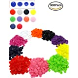 300 Sets Snaps Buttons Plastic, T5 No-Sew Snap Fasteners Button Set for Baby Kids Infants Onesies Clothes Rain Coat Diaper Bib [10 Colors]