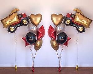 Jumbo Dump Truck Foil Mylar Balloon Helium Birthday Party Decorations Supplies Yellow