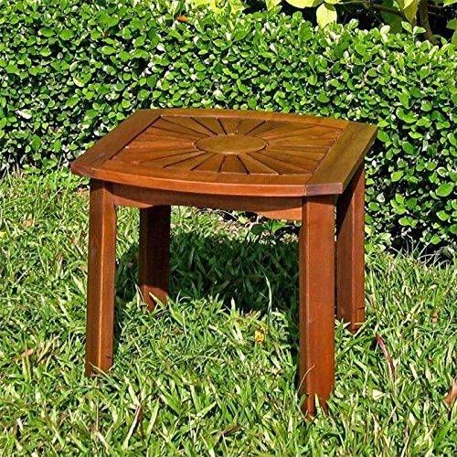 International Caravan Sunburst Outdoor Patio Side Table picture